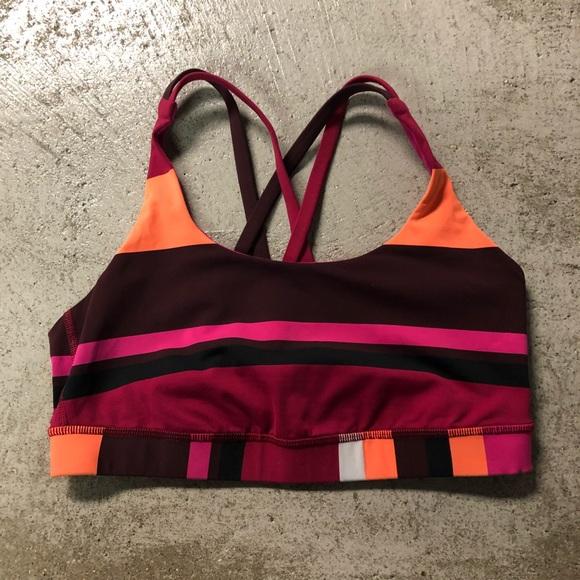 d70df0ceab lululemon athletica Other - LuluLemon Strappy Sports Bra 8 Striped No  Padding